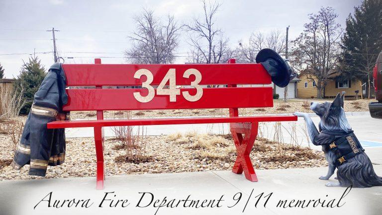 Aurora Fire Department tribute bronze sculpture hand sculpted by Austin Weishel in Loveland, Colorado
