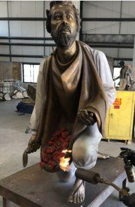 Juan Diego bronze sculpture By Austin Weishel